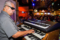 Lynn August performs at the Ponderosa Stomp in New Orleans on October 3, 2015.