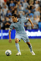Omar Bravo Sporting KC midfielder in action... Sporting KC defeated San Jose Earthquakes 1-0 at LIVESTRONG Sporting Park, Kansas City, Kansas.