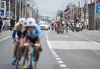 last meters as the breakaway group as other riders are approaching fast<br /> <br /> 69th Kuurne-Brussel-Kuurne 2017 (1.HC)