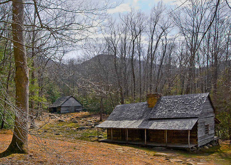 "The Noah ""Bud"" Ogle Homestead in the Great Smoky Mountains National Park. Smoky Mountain photos by Gordon and Jan Brugman."