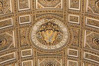 Maderno's nave ceiling (detail), 16th century, Saint Peter's Basilica, Vatican City, Rome, Italy. Picture by Manuel Cohen