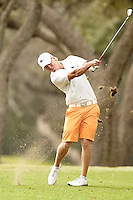 SAN ANTONIO, TX - FEBRUARY 12, 2013: The University of Texas at San Antonio Roadrunners Men's Golf Team hosts the UTSA Oak Hills Invitational Golf Tournament at Oak Hills Country Club. (Photo by Jeff Huehn)