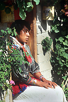 Portrait Wixarika (Huichol) community in the Sierra Madre Occidental, Mexico