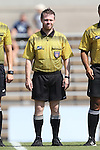 23 August 2015: Fourth Official Michael Hill. The Duke University Blue Devils played the Weber State University Wildcats at Fetzer Field in Chapel Hill, NC in a 2015 NCAA Division I Women's Soccer game. Duke won the game 4-0.