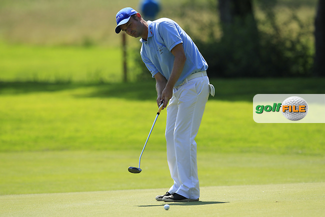Christoph Gunther (GER) takes his putt on the 5th green during Thursday's Round 1 of the 2013 BMW International Open held on the Eichenried Golf Club, Munich, Germany. 20th June 2013<br /> (Picture: Eoin Clarke www.golffile.ie)