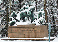 George rogers clark staue in snow