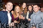 Ringing in the New Year in Lobster Bar, Waterville were l-r; Pádraig O'Sullivan, Marie O'Sullivan, Shauna O'Sullivan, Lisa Marie Breen & Gearóid O'Sullivan.