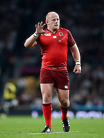 Dan Cole of England. Rugby World Cup Pool A match between England and Fiji on September 18, 2015 at Twickenham Stadium in London, England. Photo by: Patrick Khachfe / Onside Images