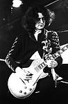 Led Zeppelin 1972 Jimmy Page Alexandra Palace..© Chris Walter..