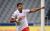 Fussball 2. Bundesliga:  Saison   2012/2013,    14. Spieltag  TSV 1860 Muenchen - 1. FC Koeln  16.11.2012 JUBEL nach dem TOR zum 0:2 Adil Chihi (1. FC Koeln)