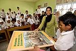A school visit from Icut and her Sumatran elephant mascot