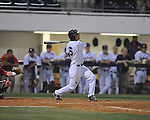 Ole Miss' Blake Newalu (6) vs. Georgia in college baseball action at Oxford-University Stadium in Oxford, Miss. on Friday, April 8, 2011. Georgia won 9-8.