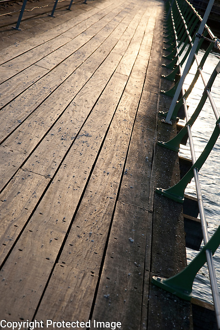 Pier Walkway on Tilted Angle