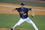 Ole Miss' Mike Mayers (28) pitches at Oxford-University Stadium in Oxford, Miss. on Wednesday, March 9, 2010.