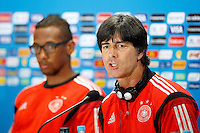 Germany manager Joachim Low and Jerome Boateng during the press conference