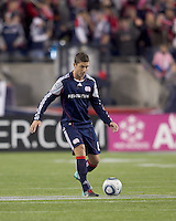 New England Revolution defender Chris Tierney (8) at midfield.  The New England Revolution defeated Kansas City Wizards, 1-0, at Gillette Stadium on October 16, 2010.