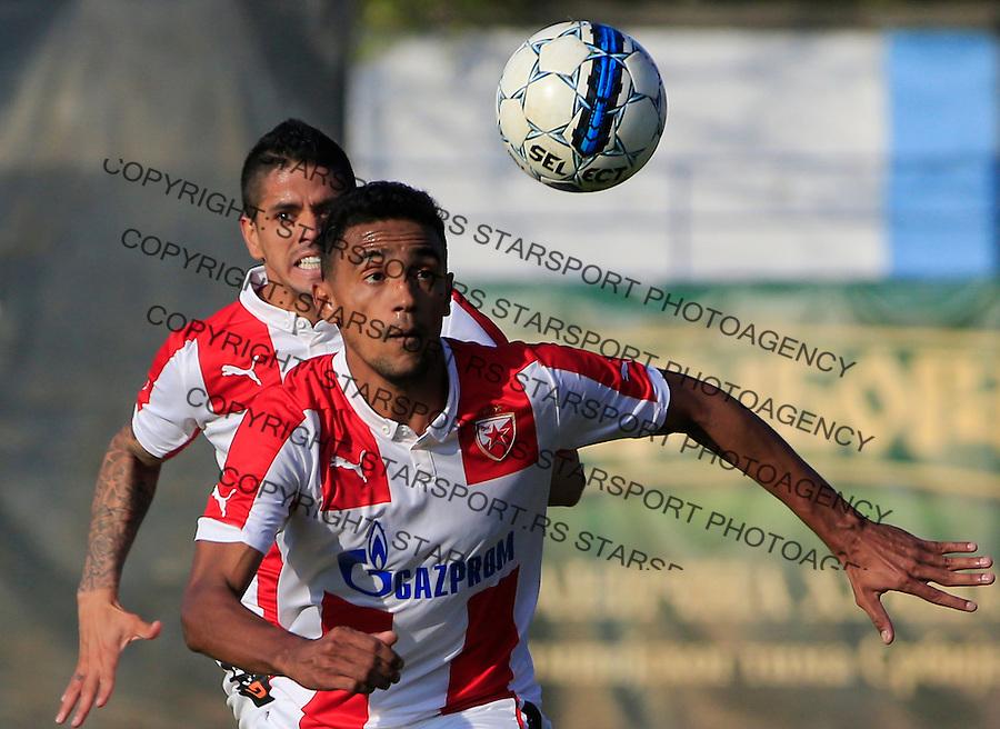 Fudbal Kup Srbije season 2015-2016<br /> Backa v Crvena Zvezda<br /> Bruno Oliveira de Matos and Luis Ibanez (L)<br /> Backa Palanka, 28.10.2015.<br /> foto: Srdjan Stevanovic/Starsportphoto&copy;
