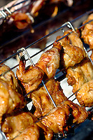 Huli huli chicken on the grill