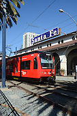Stock photo of trolley at Santa Fe Station