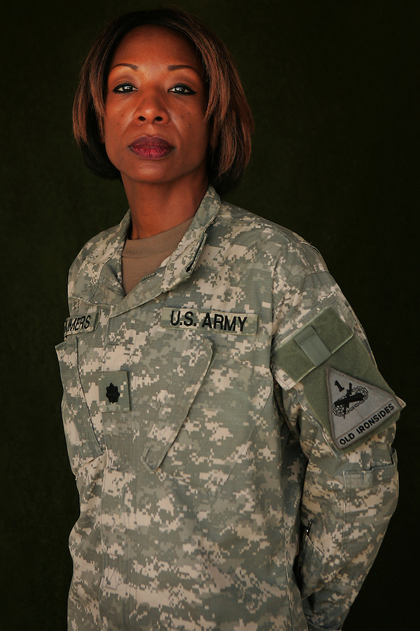 Lt. Col. Maria B. Summers, 45, St. Louis, MO, Brigade Surgeon, 1st Brigade 1st Armored Division taken at the brigade's medical facility at Camp Ramadi, Iraq on Saturday Sept. 30, 2006.<br />