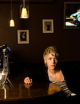 Actor Mitch Hewer, photographed in London while starring in teen-drama Skins - BAFTA