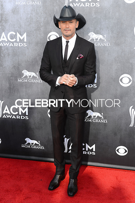 LAS VEGAS, NV, USA - APRIL 06: Tim McGraw at the 49th Annual Academy Of Country Music Awards held at the MGM Grand Garden Arena on April 6, 2014 in Las Vegas, Nevada, United States. (Photo by Celebrity Monitor)