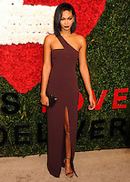 NEW YORK CITY, NY, USA - OCTOBER 16: Chanel Iman arrives at the God's Love We Deliver, Golden Heart Awards held at Spring Studios on October 16, 2014 in New York City, New York, United States. (Photo by Celebrity Monitor)