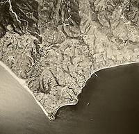 historical aerial photograph Malibu, California, 1967