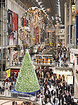 Swarovski Christmas Tree at Toronto Eaton Centre during Christmas season. Toronto, Ontario, Canada.