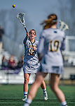 30 March 2016: University of Vermont Catamount Midfielder Alison Bolt, a Junior from Tully, NY, in first half action against the Manhattan College Jaspers at Virtue Field in Burlington, Vermont. The Lady Cats defeated the Jaspers 11-5 in non-conference play. Mandatory Credit: Ed Wolfstein Photo *** RAW (NEF) Image File Available ***