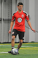 DC United defender Perry Kitchen (23)   at the first official training session of the 2011 MLS season.  At Greenbelt Sportsplex, Friday January 28, 2011.