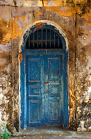 Sri Lanka. Door, Catholic church, Kayts island, Jaffna peninsula. 2003