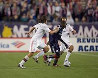 New England Revolution forward Kheli Dube (11) dribbles. The New England Revolution defeated Toronto FC, 4-1, at Gillette Stadium on April 10, 2010.