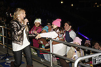 Brookie of the singing duo Jonnie & Brookie Allen moves through the crowd during the 2008 Girl Scout Cookie Program kick-off event at SeaWorld in San Diego, Sunday, Jan. 13 2008.   Thousands of girls enjoyed a sing-along, live music and a special Shamu Rocks show.
