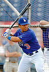 6 March 2006: Cesar Izturis, infielder for the Los Angeles Dodgers, prior to a Spring Training game against the Washington Nationals. The Nationals and Dodgers played to a scoreless tie at Holeman Stadium, in Vero Beach Florida...Mandatory Photo Credit: Ed Wolfstein..