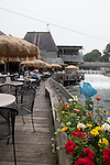 Restaurant on the canal in the landmark Leland Historic District (Fishtown), Leland, Michigan, MI, USA