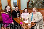 Enjoying the Tenacity School of Performing Arts Table Quiz fundraiser at Na Gaeil Club on Sunday were Melissa Lynch, Joseph Lynch, Laura Lynch and Noreen Lynch
