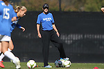 26 October 2014: Duke assistant coach Carla Overbeck. The Duke University Blue Devils hosted the Boston College University Eagles at Koskinen Stadium in Durham, North Carolina in a 2014 NCAA Division I Women's Soccer match. Duke won the game 2-1 in overtime.