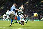 Celtic v St Johnstone...23.01.16   SPFL  Celtic Park, Glasgow<br /> Michael O'Halloran is blocked by Jozo Simunovic<br /> Picture by Graeme Hart.<br /> Copyright Perthshire Picture Agency<br /> Tel: 01738 623350  Mobile: 07990 594431
