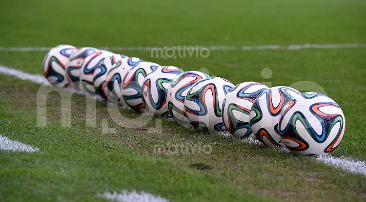 Fussball International Euro 2015 Quali Play-off-Rueckspiel U 21 in Essen 14.10.2014 Deutschland - Ukraine     Adidas Baelle, Brazuca