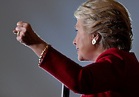 COCONUT CREEK, FL - OCTOBER 25: Democratic presidential nominee former Secretary of State Hillary Clinton speaks at her rally to highlight the start of in-person early voting at Omni Auditorium, Broward College North Campus on October 25, 2016 in Coconut Creek, Florida. With two weeks to go until Election Day, Clinton will urge Florida voters to take advantage of in-person early voting, which begins in many Florida counties. Credit: MPI10 / MediaPunch
