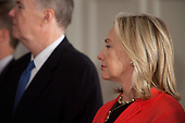 United States Secretary of State Hillary Rodham Clinton attends a meeting between U.S. President Barack Obama and Prime Minister Recep Tayyip Erdogan of Turkey at the United Nations General Assembly in New York, New York on Tuesday, September 20, 2011. .Credit: Allan Tannenbaum / Pool via CNP