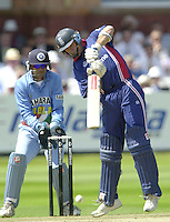 .13/07/2002.Sport - Cricket -NatWest Series Final- Lords.England vs India. Nasser Hussian.