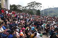 BOGOTA -COLOMBIA , 13- ABRIL-2017.Thousands of Catholics walked up to the Monserrate Sanctuary today Holy Thursday . Photo: VizzorImage / Felipe Caicedo / Staff