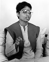Swami Nityananda in Oakland, California.<br />(1983 photo/Ron Riesterer)