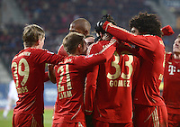 FUSSBALL   1. BUNDESLIGA  SAISON 2012/2013   16. Spieltag FC Augsburg - FC Bayern Muenchen         08.12.2012 Toni Kroos, Philipp Lahm, Mario Gomez, Dante  (v.li., FC Bayern Muenchen)