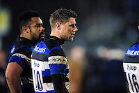 Rhys Priestland of Bath Rugby looks on after the match. Anglo-Welsh Cup match, between Bath Rugby and Gloucester Rugby on January 27, 2017 at the Recreation Ground in Bath, England. Photo by: Patrick Khachfe / Onside Images