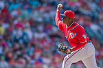 1 June 2014: Washington Nationals pitcher Rafael Soriano on the mound against the Texas Rangers at Nationals Park in Washington, DC. The Rangers shut out the Nationals 2-0 to salvage the third the third game of their 3-game inter-league series. Mandatory Credit: Ed Wolfstein Photo *** RAW (NEF) Image File Available ***