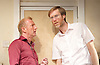 The Mentalists<br /> by Richard Bean <br /> at Wyndham's Theatre, London, Great Britain <br /> press photocall <br /> 10th July 2015 <br /> <br /> Stephen Merchant <br /> <br /> Steffan Rhodri <br /> <br /> directed by Abbey Wright <br /> <br /> <br /> <br /> <br /> Photograph by Elliott Franks <br /> Image licensed to Elliott Franks Photography Services