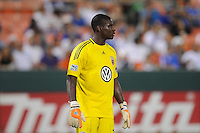 DC United goalkeeper Bill Hamid (28).  DC United defeated El Salvador National Team 1-0 in a international charity match at RFK Stadium, Saturday June 19, 2010.
